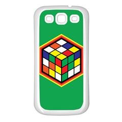 Colorful Cube, Solve It! Samsung Galaxy S3 Back Case (white)