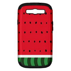 Watermelon! Samsung Galaxy S III Hardshell Case (PC+Silicone)
