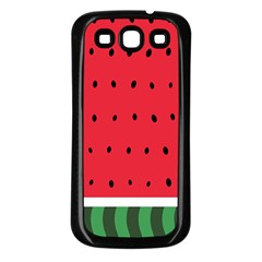 Watermelon! Samsung Galaxy S3 Back Case (Black)