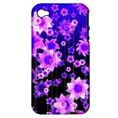 Midnight Forest Apple iPhone 4/4S Hardshell Case (PC+Silicone)