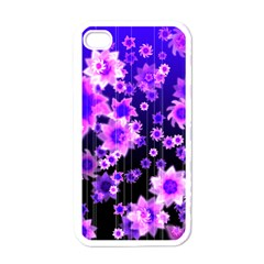 Midnight Forest Apple Iphone 4 Case (white)