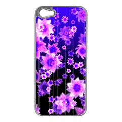 Midnight Forest Apple Iphone 5 Case (silver)
