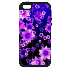 Midnight Forest Apple iPhone 5 Hardshell Case (PC+Silicone)