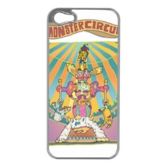 monster circus Apple iPhone 5 Case (Silver)