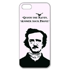 Qouth the Raven...Answer Your Phone. Apple Seamless iPhone 5 Case (Clear)