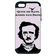 Qouth The Raven   Answer Your Phone  Apple Iphone 5 Hardshell Case (pc+silicone)