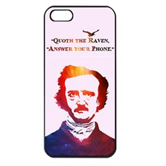 Qouth The Raven   Answer Your Phone (in Color)  Apple Iphone 5 Seamless Case (black)