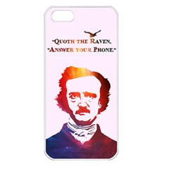 Qouth the Raven...Answer Your Phone (In Color). Apple iPhone 5 Seamless Case (White)