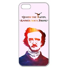 Qouth The Raven   Answer Your Phone (in Color)  Apple Seamless Iphone 5 Case (clear)