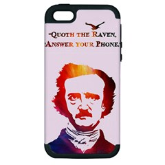 Qouth the Raven...Answer Your Phone (In Color). Apple iPhone 5 Hardshell Case (PC+Silicone)