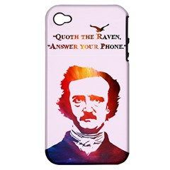 Qouth the Raven...Answer Your Phone (In Color). Apple iPhone 4/4S Hardshell Case (PC+Silicone)