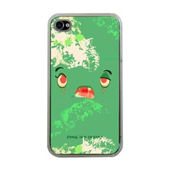 Feed Me Brains....er, I Mean Texts! Apple iPhone 4 Case (Clear)