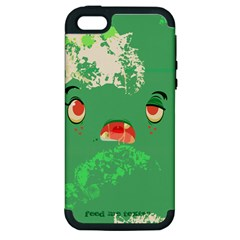 Feed Me Brains....er, I Mean Texts! Apple iPhone 5 Hardshell Case (PC+Silicone)
