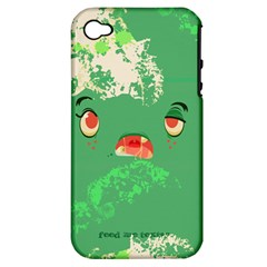 Feed Me Brains    Er, I Mean Texts! Apple Iphone 4/4s Hardshell Case (pc+silicone)