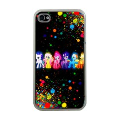 Ponies Apple Iphone 4 Case (clear)