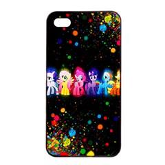 Ponies Apple iPhone 4/4s Seamless Case (Black)