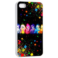 Ponies Apple Iphone 4/4s Seamless Case (white)