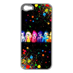 Ponies Apple iPhone 5 Case (Silver)