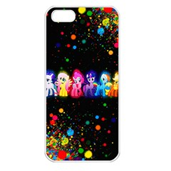 Ponies Apple iPhone 5 Seamless Case (White)