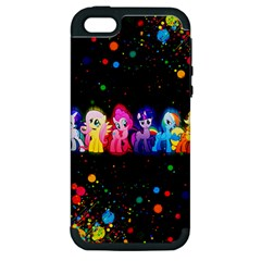 Ponies Apple iPhone 5 Hardshell Case (PC+Silicone)