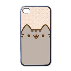 Cute Cat Apple Iphone 4 Case (black)