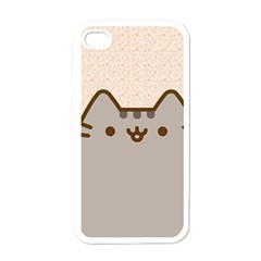 Cute Cat Apple iPhone 4 Case (White)