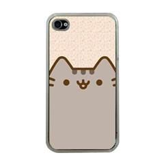 Cute Cat Apple iPhone 4 Case (Clear)