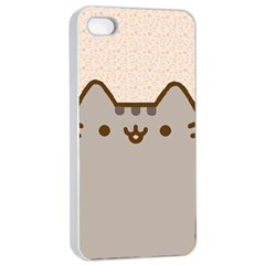 Cute Cat Apple iPhone 4/4s Seamless Case (White)