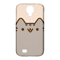 Cute Cat Samsung Galaxy S4 Classic Hardshell Case (PC+Silicone)