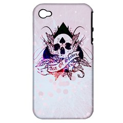 ace of spades Apple iPhone 4/4S Hardshell Case (PC+Silicone)