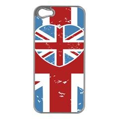 UNION LOVE VINTAGE CASE DESIGN Apple iPhone 5 Case (Silver)