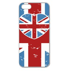 UNION LOVE VINTAGE CASE DESIGN Apple Seamless iPhone 5 Case (Clear)