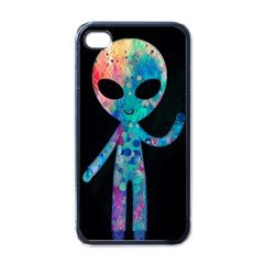 Greetings from your phone Apple iPhone 4 Case (Black)
