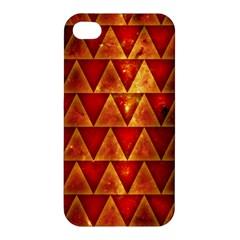 Orange Triangle Tiles Apple iPhone 4/4S Premium Hardshell Case