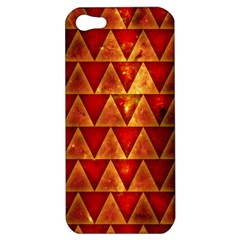 Orange Triangle Tiles Apple Iphone 5 Hardshell Case