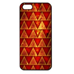 Orange Triangle Tiles Apple iPhone 5 Seamless Case (Black)