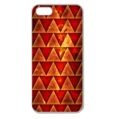 Orange Triangle Tiles Apple Seamless Iphone 5 Case (clear)