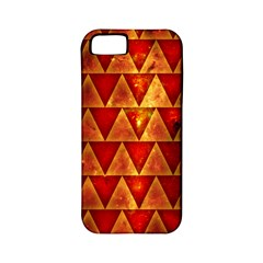 Orange Triangle Tiles Apple Iphone 5 Classic Hardshell Case (pc+silicone)