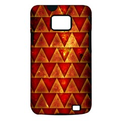 Orange Triangle Tiles Samsung Galaxy S II Hardshell Case (PC+Silicone)
