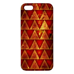 Orange Triangle Tiles iPhone 5 Premium Hardshell Case