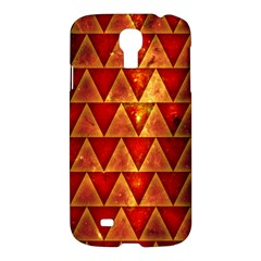 Orange Triangle Tiles Samsung Galaxy S4 I9500/i9505 Hardshell Case