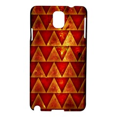 Orange Triangle Tiles Samsung Galaxy Note 3 N9005 Hardshell Case