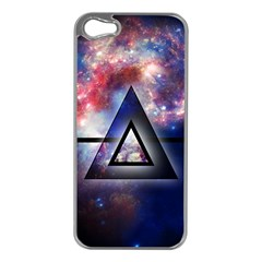 Galaxy Triangle Apple iPhone 5 Case (Silver)