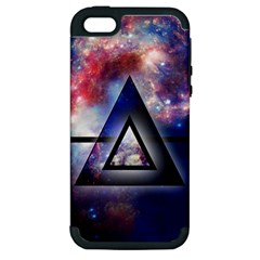 Galaxy Triangle Apple Iphone 5 Hardshell Case (pc+silicone)