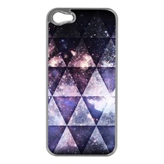 Triangle Tiles Apple iPhone 5 Case (Silver)