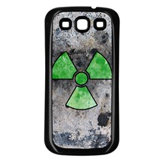 Nuke Warning Samsung Galaxy S3 Back Case (Black)