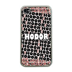Hodor Apple Iphone 4 Case (clear)