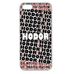 Hodor Apple Seamless iPhone 5 Case (Clear)