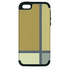 Minimalist Art Apple iPhone 5 Hardshell Case (PC+Silicone)