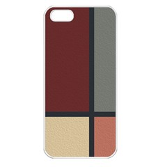 Modern Art Apple iPhone 5 Seamless Case (White)